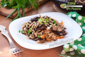 Как приготовить бурый рис с диким рисом и грибами - рецепт с фото и видео