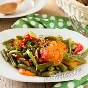 Как приготовить зеленую фасоль с овощами — рецепт с фото и видео