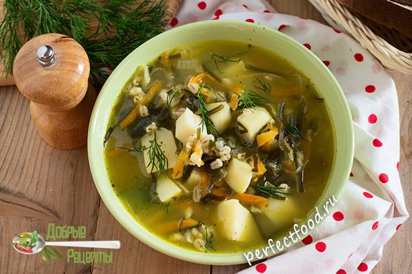 Вегетарианский рассольник с перловкой - рецепт с фото