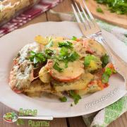Картофельная запеканка с помидорами и сыром — рецепт с фото и видео