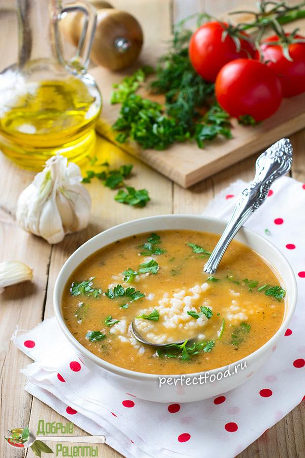 Томатно-чесночный суп с рисом - рецепт с фото и видео