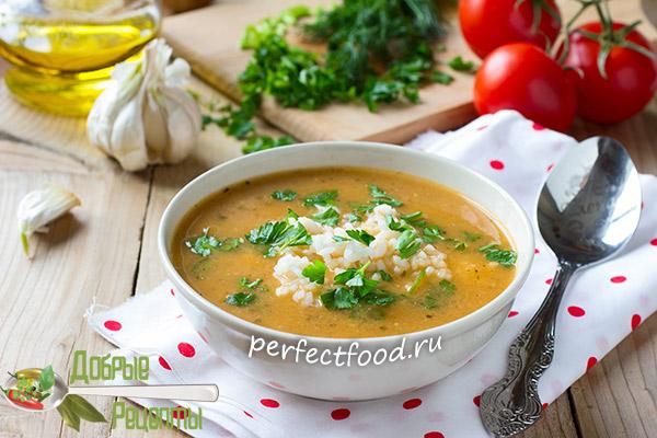 Томатный суп с чесноком и рисом - рецепт с фото и видео