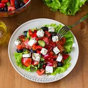 Греческий салат — рецепт с фото и видео