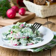 Летний салат с редиской и огурцом — рецепт с фото и видео