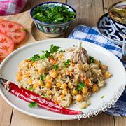 Как приготовить узбекский плов из бурого риса с нутом. Рецепт с фото и видео