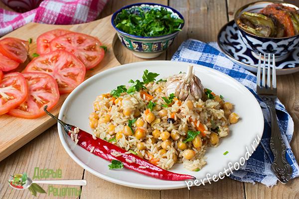 Как приготовить плов из бурого риса с нутом - рецепт с фото и видео