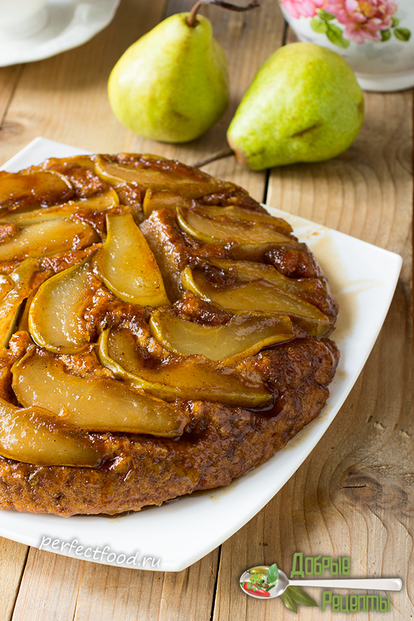Пирог с грушами и карамелью - рецепт с фото и видео
