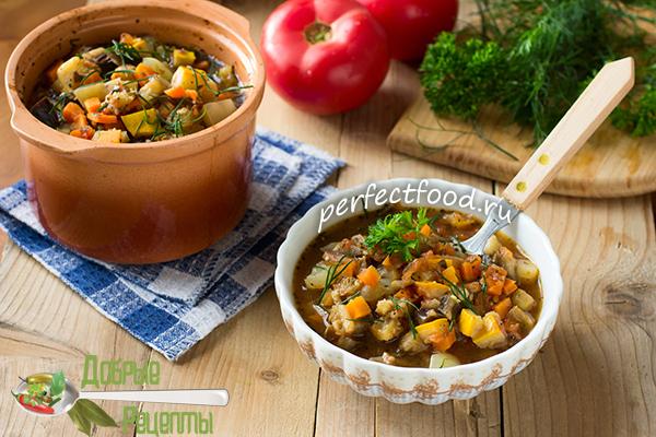 Овощное рагу с баклажанами и кабачками - рецепт с фото и видео
