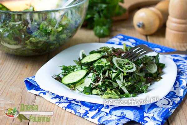 Как приготовить зелёный салат - рецепт с фото и видео