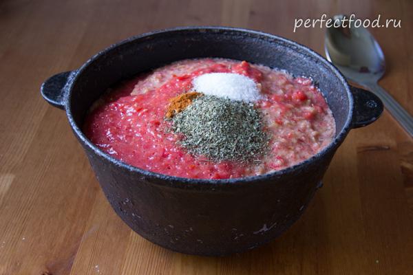 Как приготовить томатный соус с болгарским перцем - рецепт с фото и видео