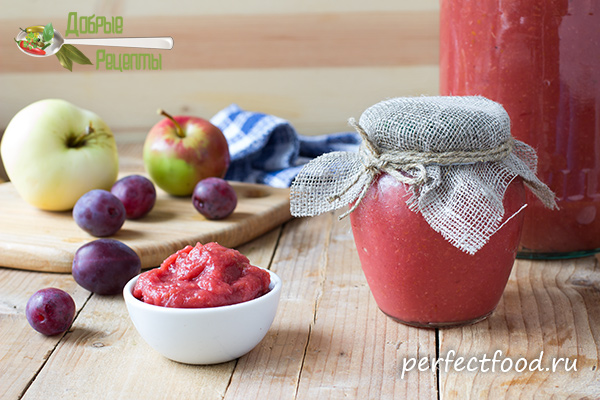 Повидло из яблок и слив без сахара