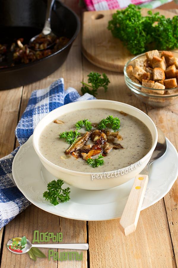 Как сделать суп-пюре из лесных грибов