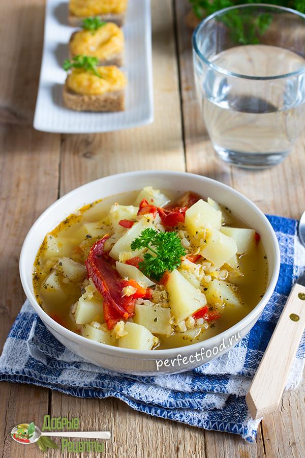 Как приготовить суп из красной чечевицы с булгуром