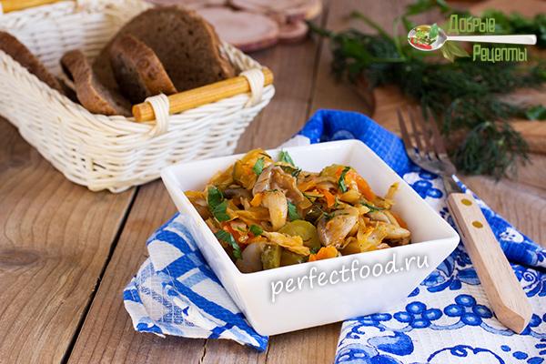 Грибная солянка с капустой - рецепт с фото