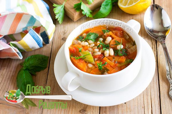 Суп с фасолью - рецепт с фото и видео