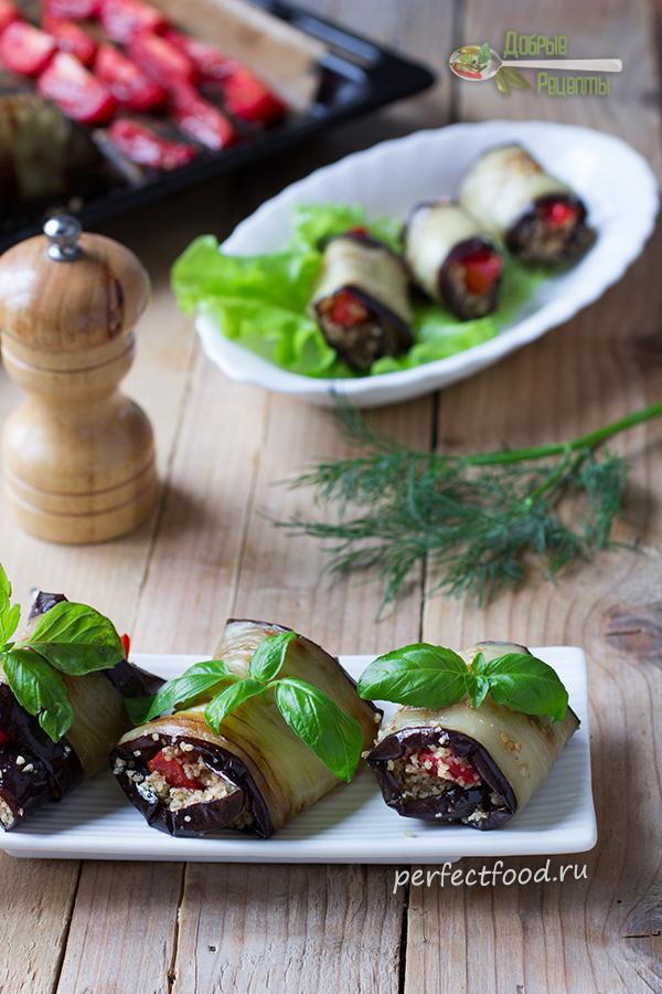Рулетики из баклажанов с грецкими орехами - рецепт с фото и видео