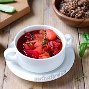 Вкусный вегетарианский борщ — рецепт с фото