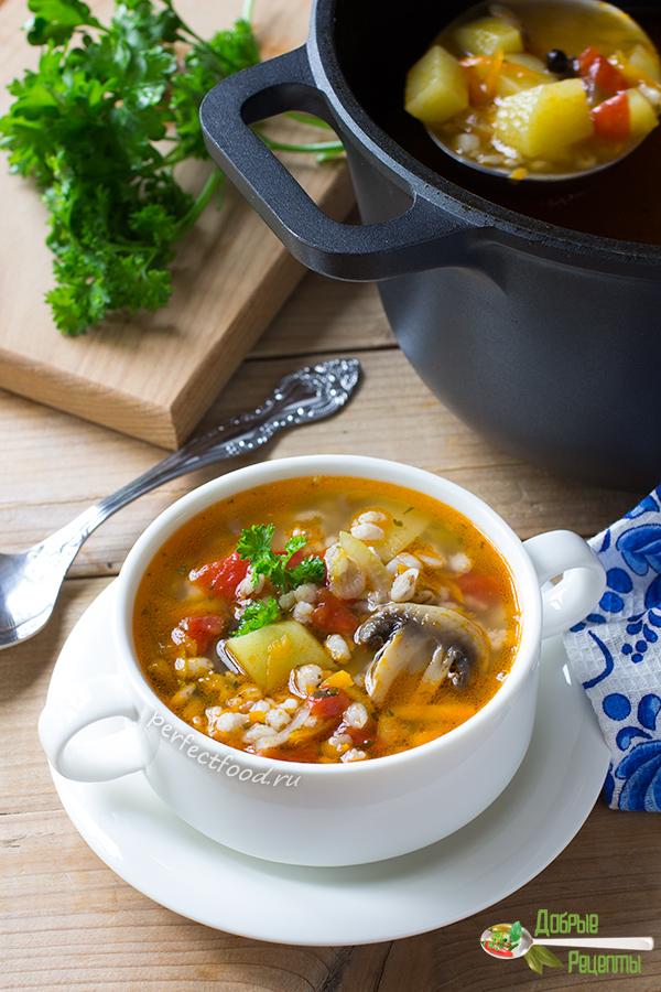 Как приготовить суп с перловкой и грибами