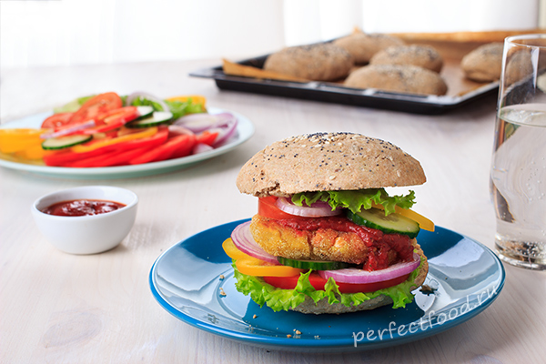 Веганский постный бургер - рецепт с фото