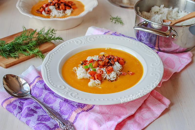 Крем-суп из тыквы с яблоками - рецепт с фото и видео
