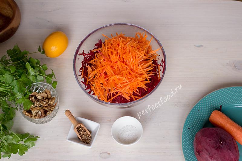 Натёртая морковь для салата