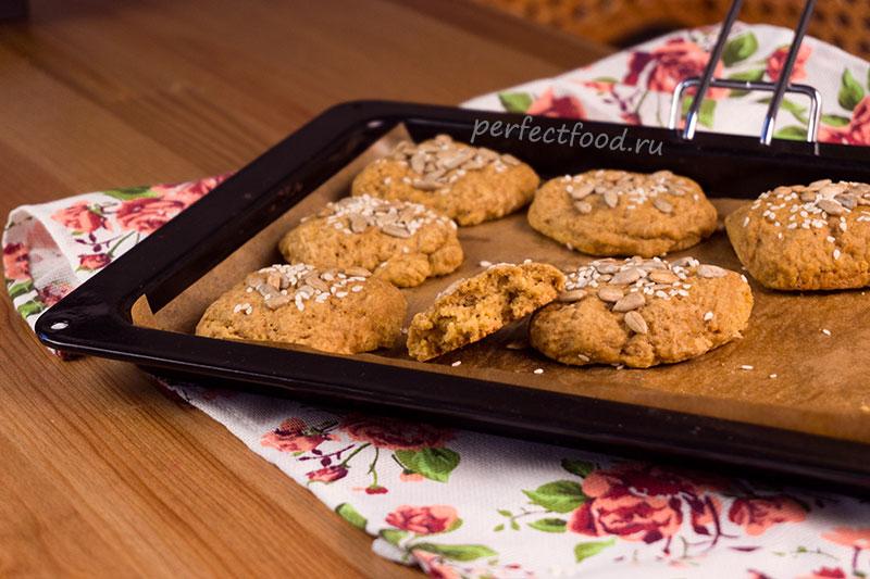 Постное тыквенное печенье со специями и семечками