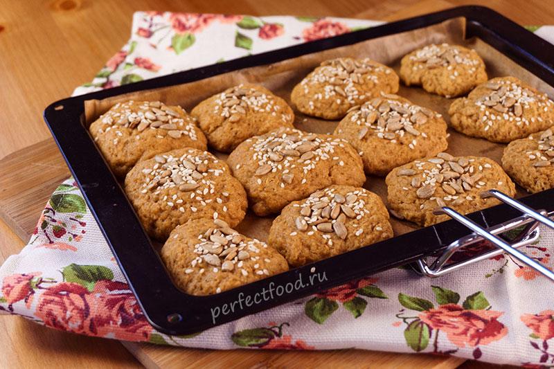 Пряное тыквенное печенье постный рецепт